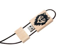 Clé USB 4 Go en bois